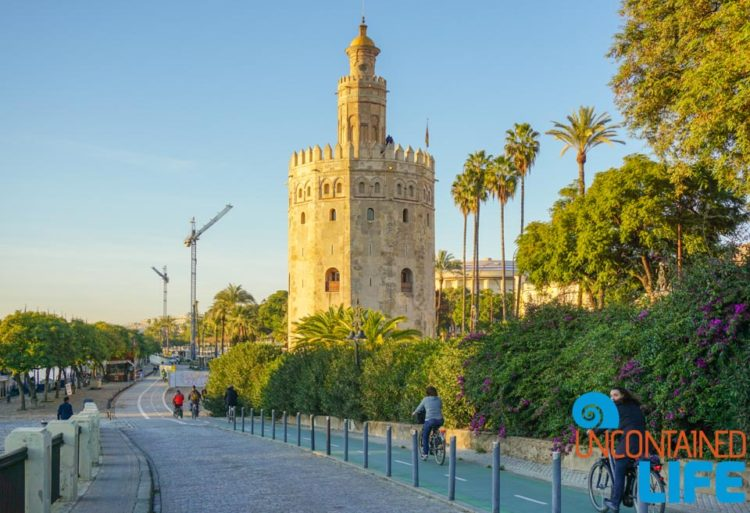 Tower of Gold, Beautiful Places in Seville, Spain, Uncontained Life