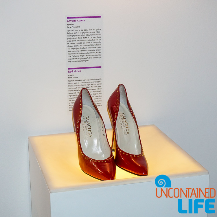 Red High Heels, Best Museum in Zagreb, Croatia, Uncontained Life
