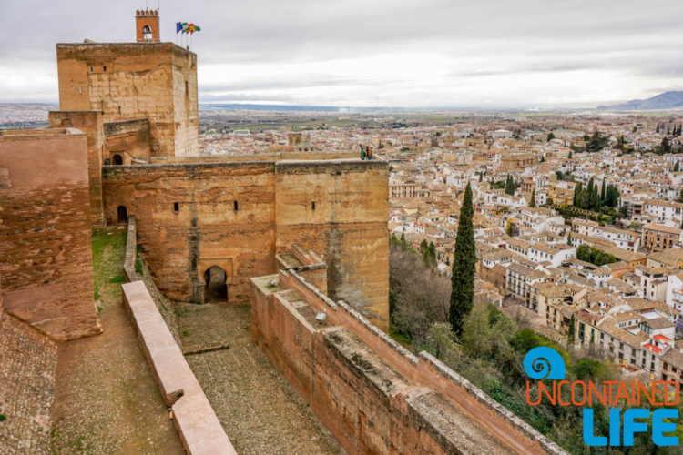 Vermilion Towers, Visit the Alhambra, Granada, Spain, Uncontained Life