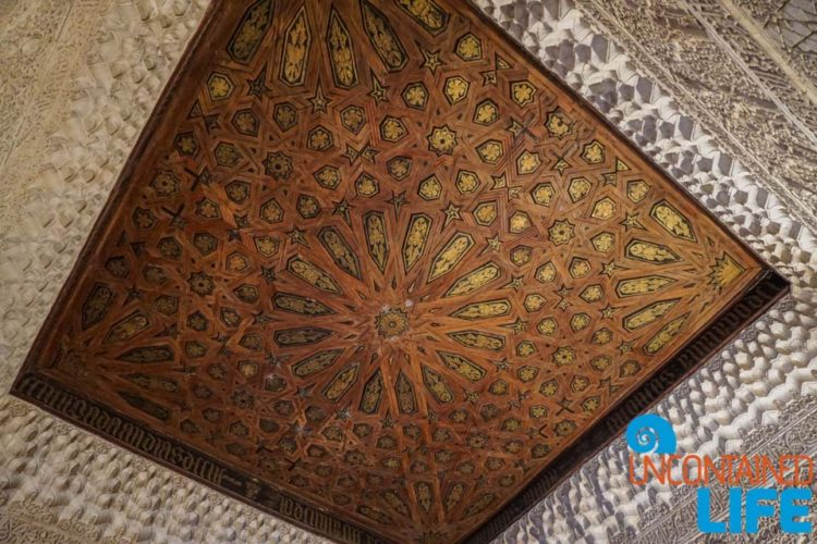Ceiling, Nasrid Palaces, Visit the Alhambra, Granada, Spain, Uncontained Life