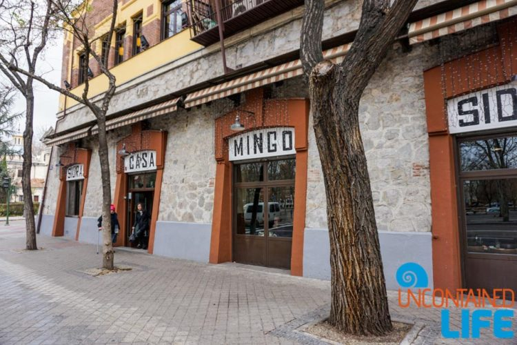 Casa Mingo, Spanish Cider, Madrid, Spain, Uncontained Life