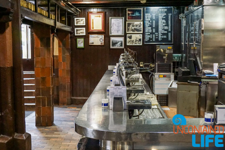 Bar, Spanish Cider, Madrid, Spain, Uncontained Life