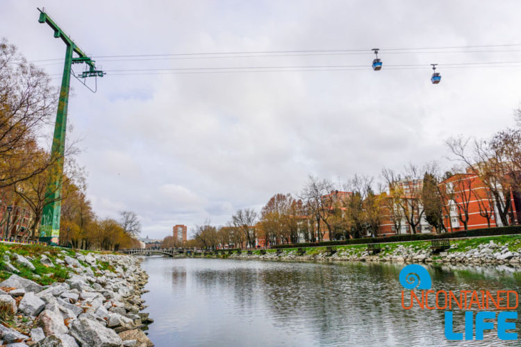 River, Sky Tram, Spanish Cider, Madrid, Spain, Uncontained Life
