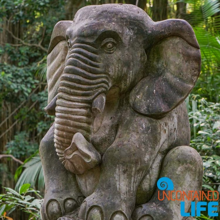 Elephant Sculpture, Sacred Monkey Forest Sanctuary, Ubud, Bali, Indonesia, Uncontained Life
