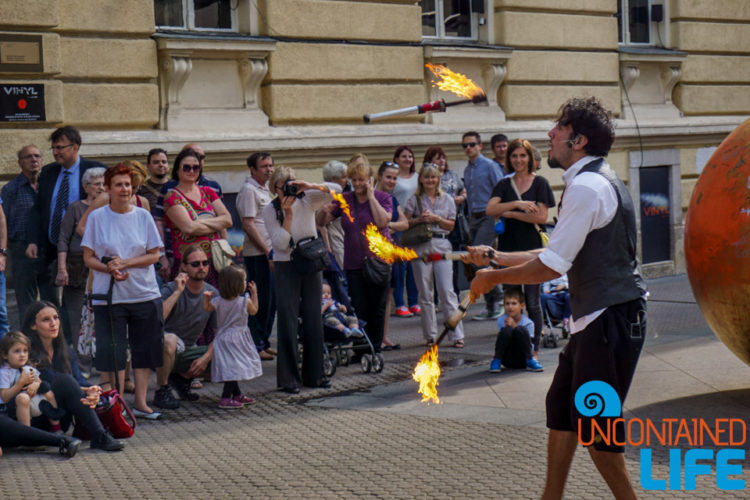 Fire Juggler, Cest is d' Best, Visit Zagreb, Croatia, Uncontained Life