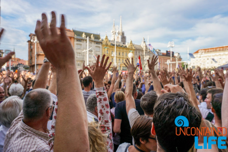Protest Rally, Visit Zagreb, Croatia, Uncontained Life