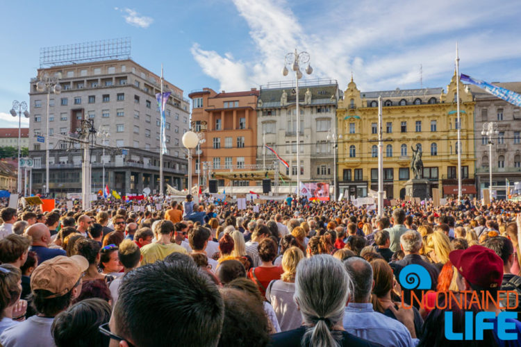 Education Protest, Visit Zagreb, Croatia, Uncontained Life