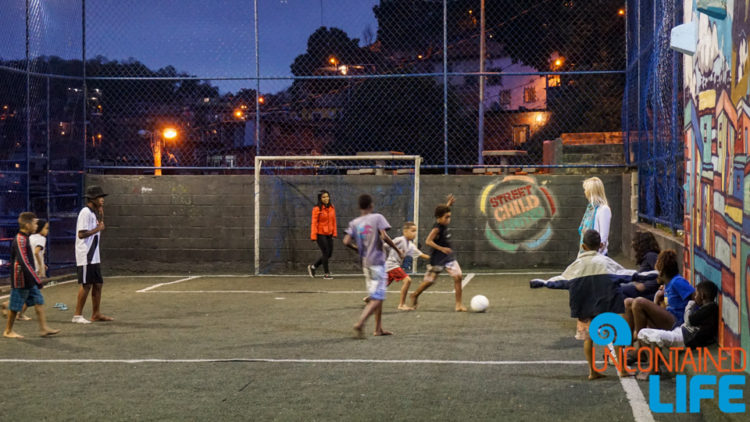 Soccer, visiting favelas in Rio de Janeiro, Brazil, Street Child United, Uncontained Life