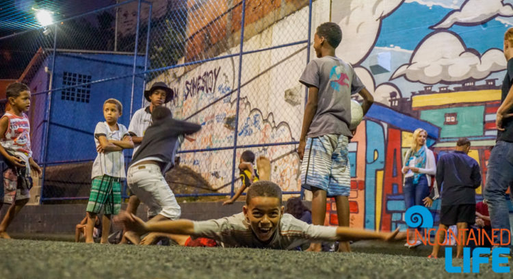 visiting favelas in Rio de Janeiro, Brazil, Street Child United, Uncontained Life