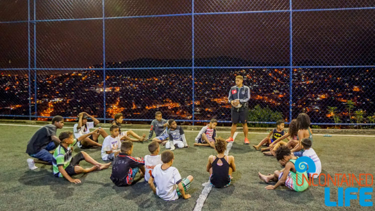 Soccer Team, visiting favelas in Rio de Janeiro, Brazil, Street Child United, Uncontained Life
