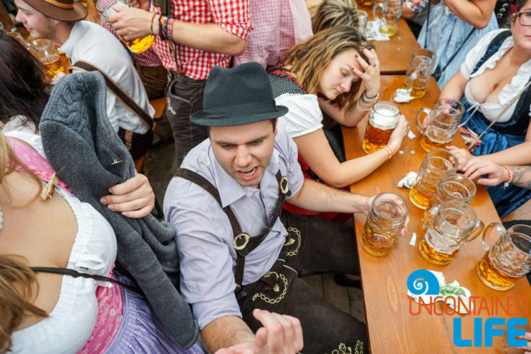Drunk, Celebrate Oktoberfest, Munich, Germany, Uncontained Life