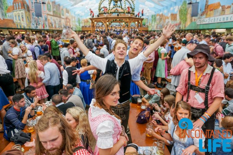 Find a table, Celebrate Oktoberfest, Munich, Germany, Uncontained Life