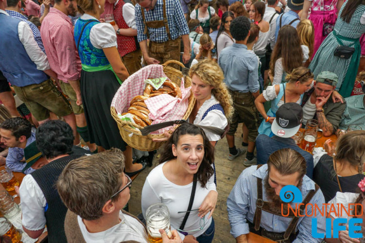Order Food, Celebrate Oktoberfest, Munich, Germany, Uncontained Life