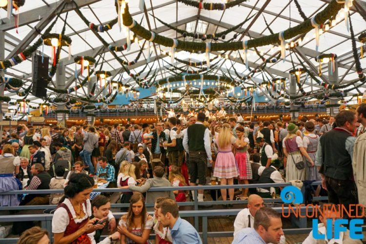 Tent, Celebrate Oktoberfest, Munich, Germany, Uncontained Life