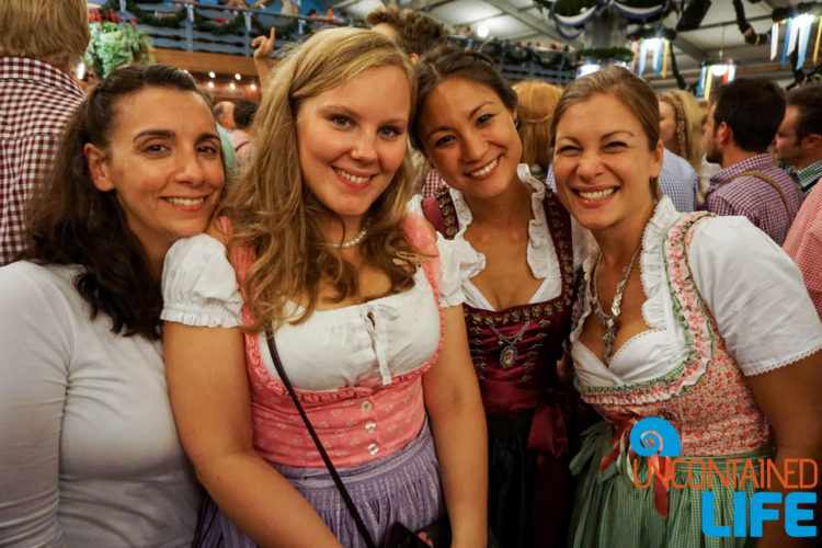 Women, Sash, Celebrate Oktoberfest, Munich, Germany, Uncontained Life