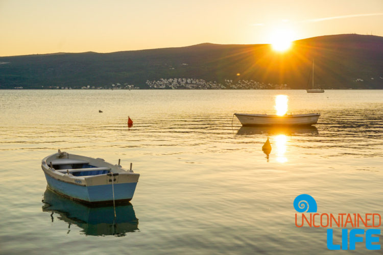 Sunset, Kotor Bay, Things to do in Tivat, Montenegro, Uncontained Life