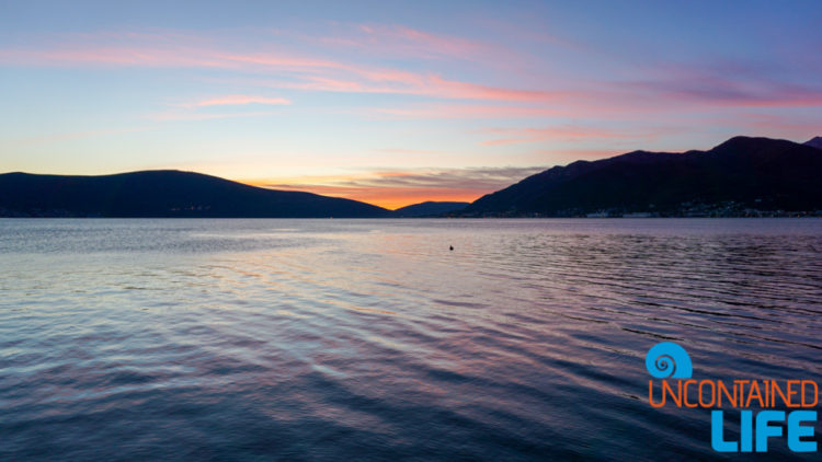 Sunset, Silhouette, Kotor Bay, Things to do in Tivat, Montenegro, Uncontained Life