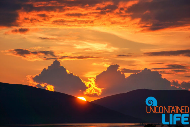 Sunset, Things to do in Tivat, Montenegro, Uncontained Life