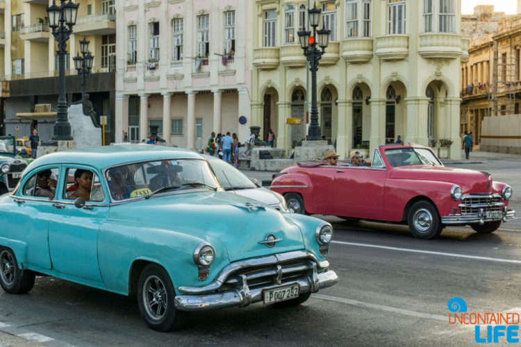 Classic cars, Americans visiting Havana, Cuba, Uncontained Life
