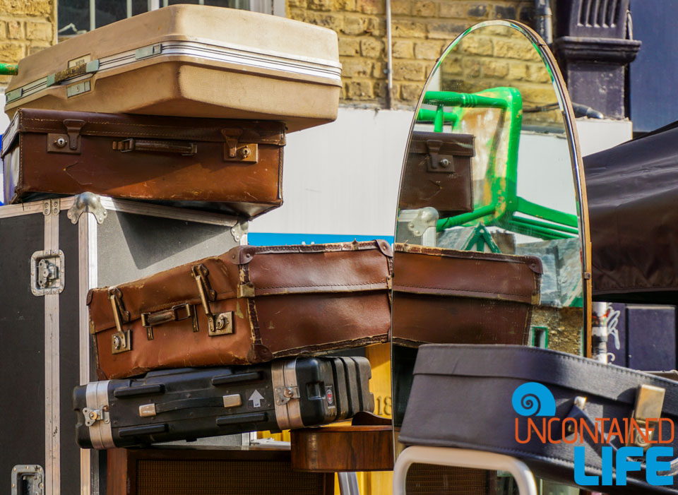 journeys, destinations, luggage, England, Uncontained Life