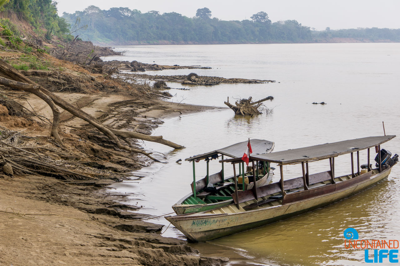 Boats, Transportation, Visit to the Peruvian Amazon, Puerto Maldonado, Peru, Uncontained Life