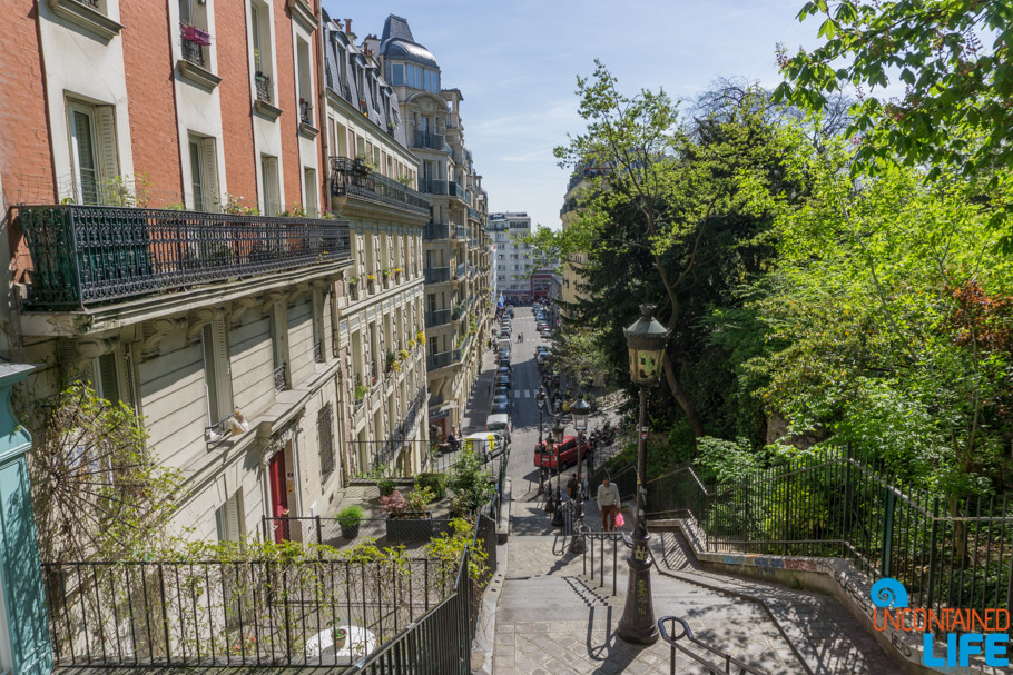 Stairs, Amélie's Montmartre, Paris, France, Uncontained Life