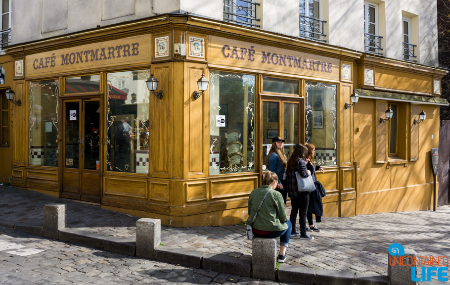 Cafe, Amélie's Montmartre, Paris, France, Uncontained Life