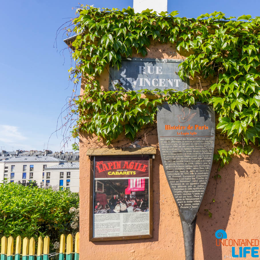 Rue St. Vincent, Amélie's Montmartre, Paris, France, Uncontained Life
