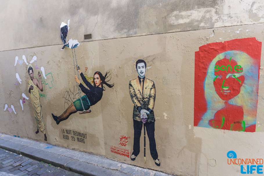 Street Art, Amélie's Montmartre, Paris, France, Uncontained Life