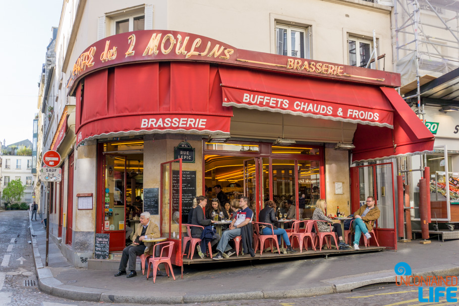 Cafe 2 Moulins, Amélie's Montmartre, Paris, France, Uncontained Life