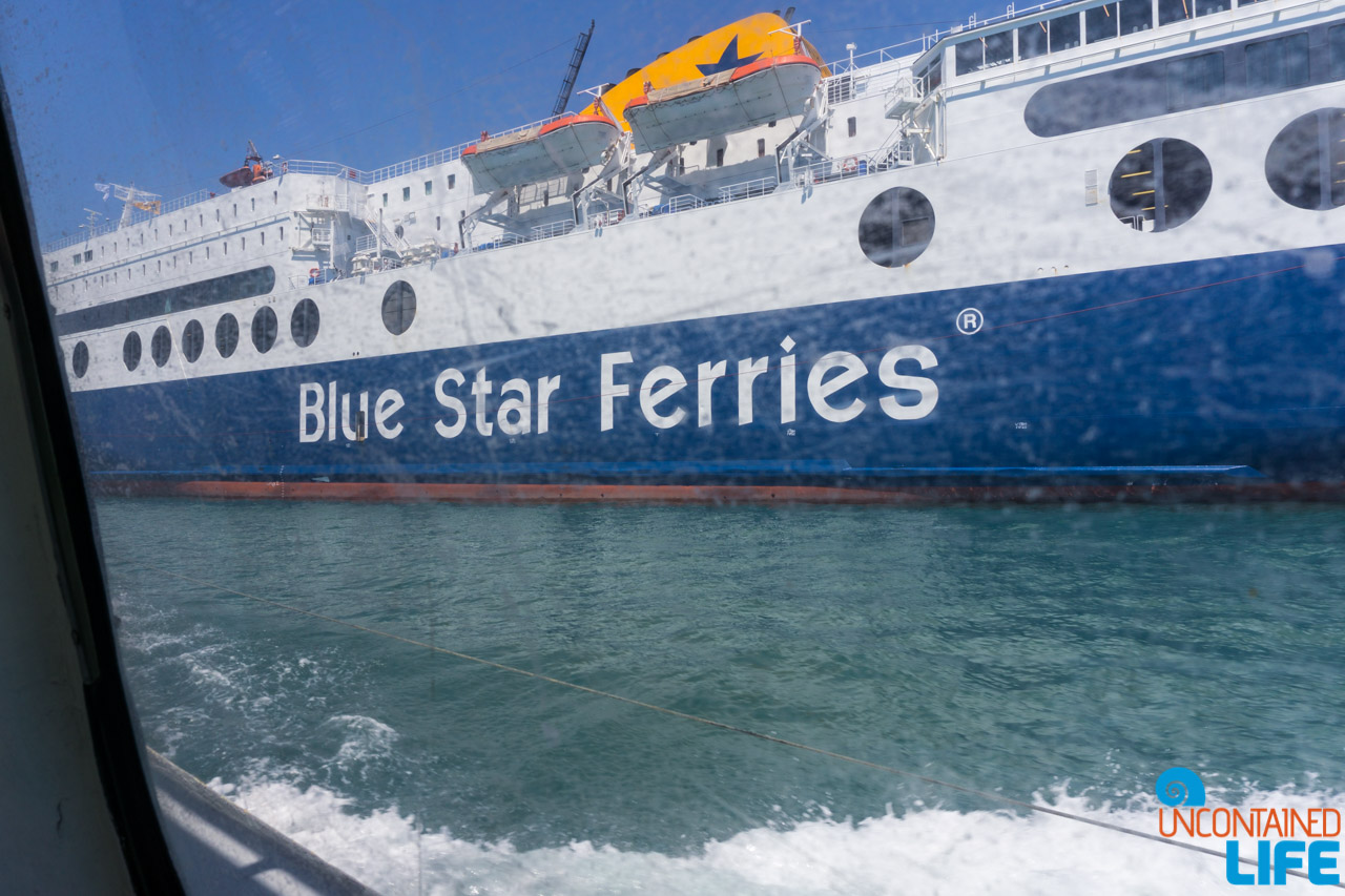 Blue Star Ferries, Visit Agistri, Greece, Uncontained Life