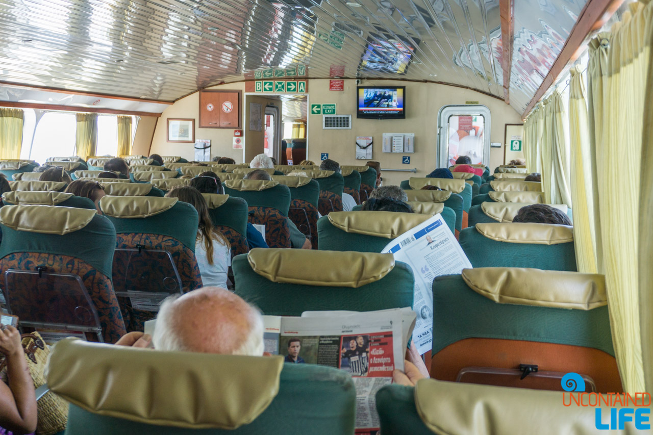 Ferry, Visit Agistri, Greece, Uncontained Life