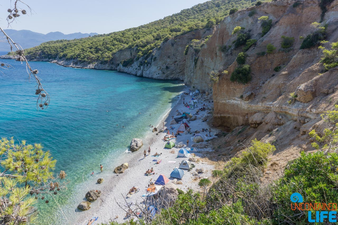 Nude Beach, Visit Agistri, Greece, Uncontained Life