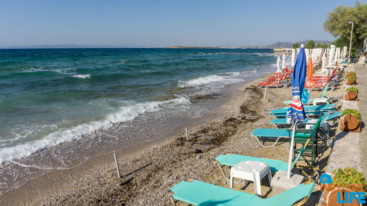 Beach Lounge, Visit Agistri, Greece, Uncontained Life