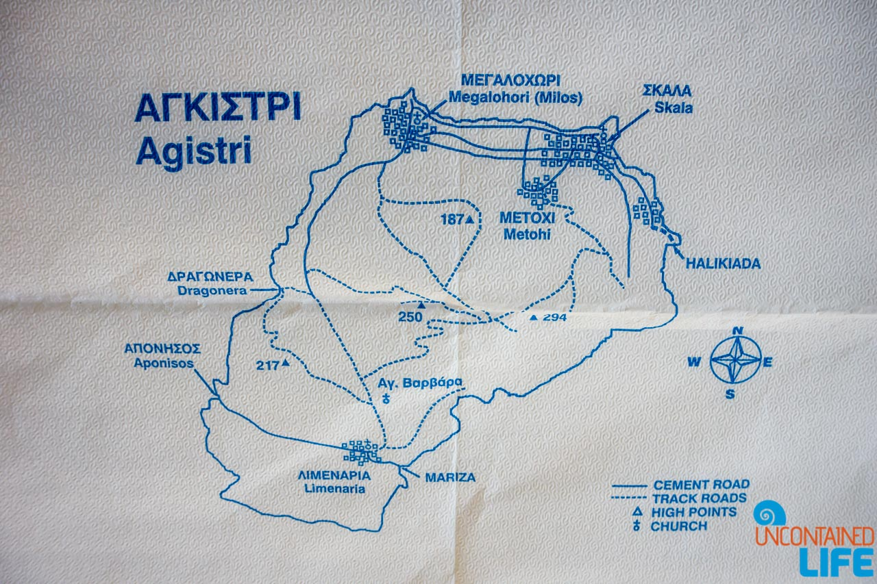 Island, Map, Visit Agistri, Greece, Uncontained Life