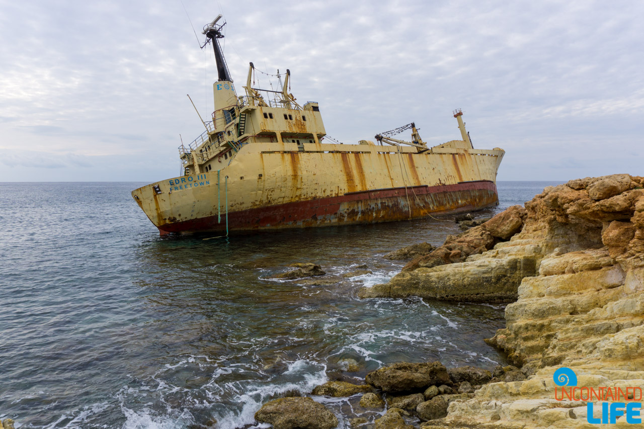 Shipwreck, Cyprus, Year of Travel, Uncontained Life