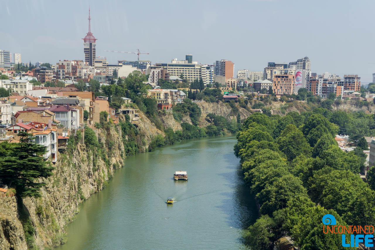 Kura River, Narikala Fortress, Tbilisi, Georgia, Uncontained Life