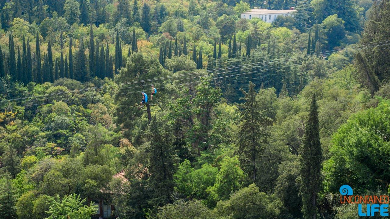 Zipline, Botanical Garden, Narikala Fortress, Tbilisi, Georgia, Uncontained Life